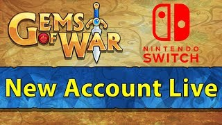 🎮 Gems of War: Nintendo Switch New Account Live Stream 1   The Grind Begins! 🎮