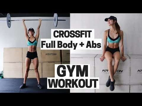 Crossfit Workout! Ab & Full Body Weight Training + Warm Up Routine at the GYM