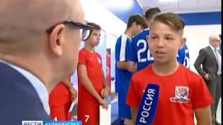 Главный тренер сборной России посетил калининградский стадион