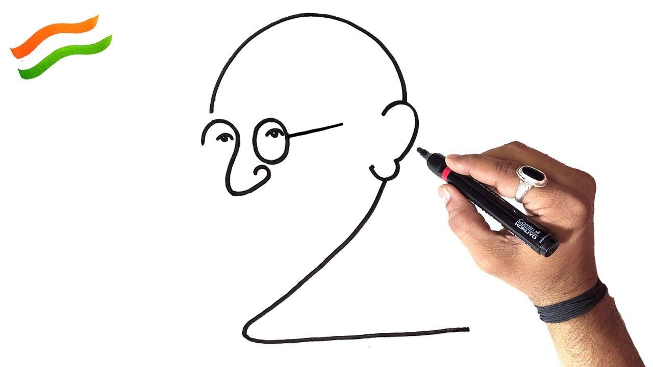 Download गांधीजी का ड्राइंग इससे आसान कोई सिखाएगा तो चॅनेल डिलीट दूंगा, Most Easy Gandhiji Drawing Very Easy