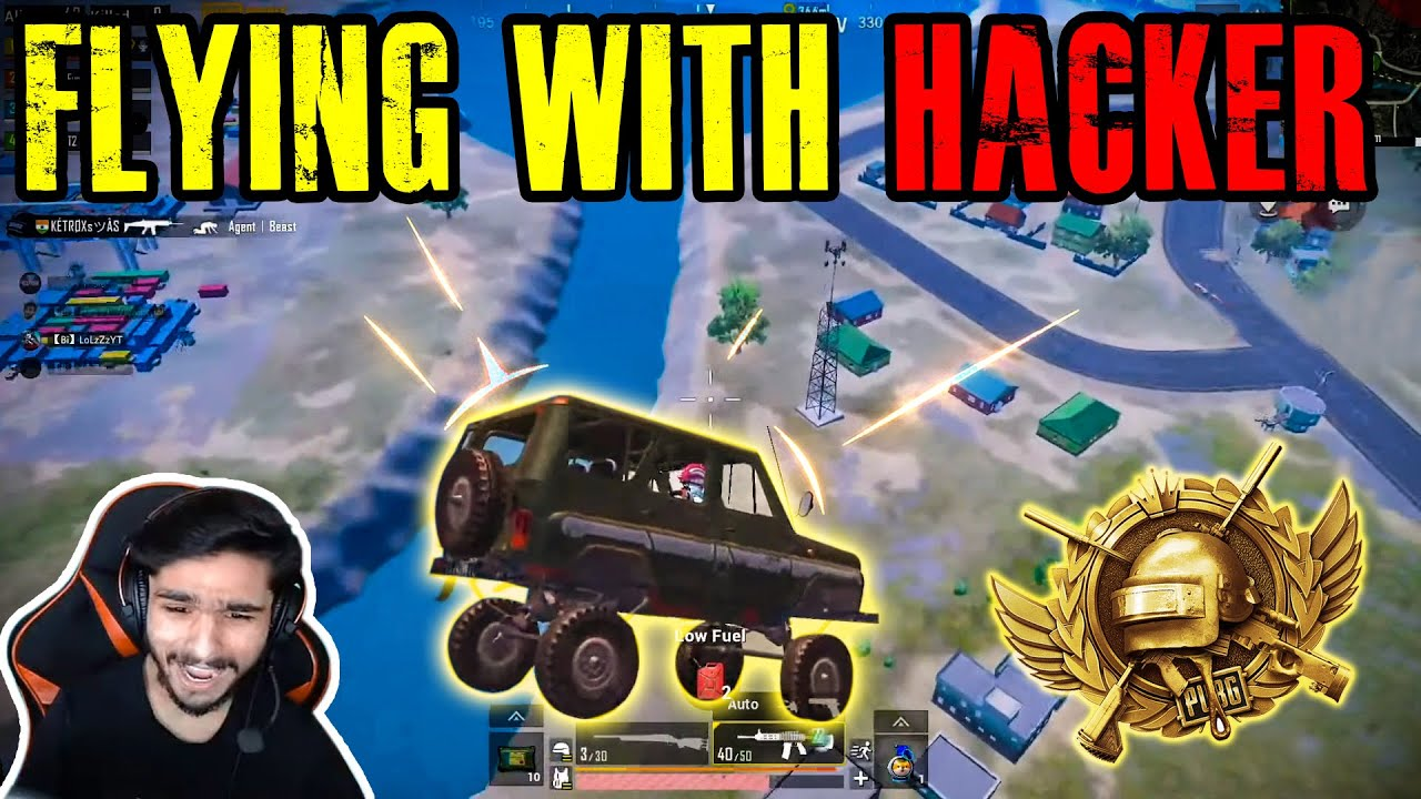 【Bi】LoLzZzYT FLYING WITH HACKER IN PUBG MOBILE | FUNNY HIGHLIGHTS