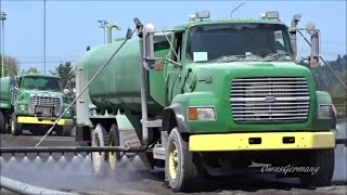 Long Boom Water Trucks & John Deere 8130 Tractors Groom Race Track