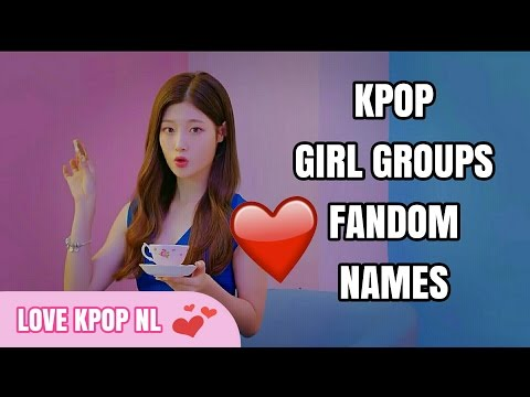 K-POP Girl Groups Fandom Names