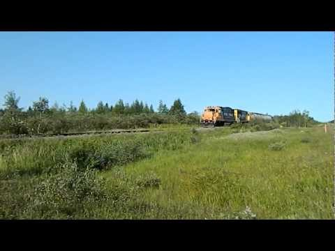 (C) MRP 2012 Ontario Northland freight train for Agrium Phosphate