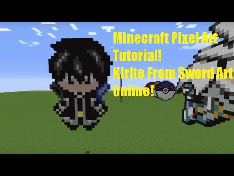 Minecraft Pixel Art Tutorial Kirito From Sword Art Online