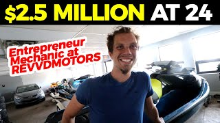 Meet The 24 y/o Mechanic + His $2.5 Million Auto Repair Shop...Interview /w Owner of REVVD MOTORS