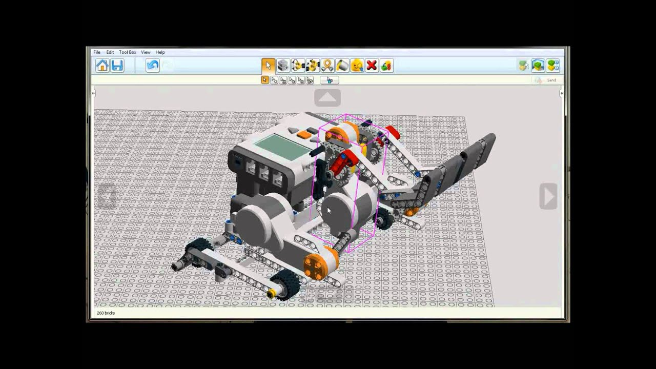 Lego nxt sumo robot lego digital designer template youtube for Lego digital designer templates