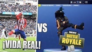 FOOTBALL PLAYERS CELEBRATE GOALS WITH FORTNITE BAILES IN REAL LIFE