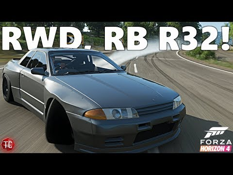 Forza Horizon 4: RWD, Rocket Bunny R32 GT-R DRIFT BUILD!