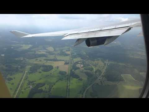 Takeoff from London Heathrow in a British Airways B744