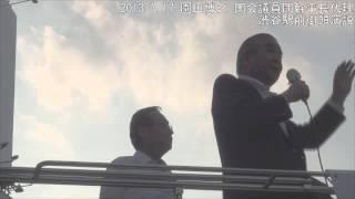 【2013.7.16】園田博之 国会議員団幹事長代理 渋谷駅前街頭演説