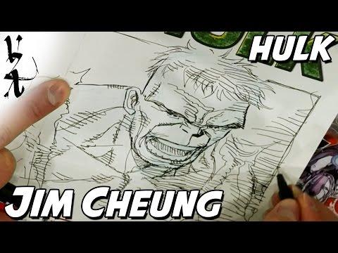 Jim Cheung Drawing Hulk