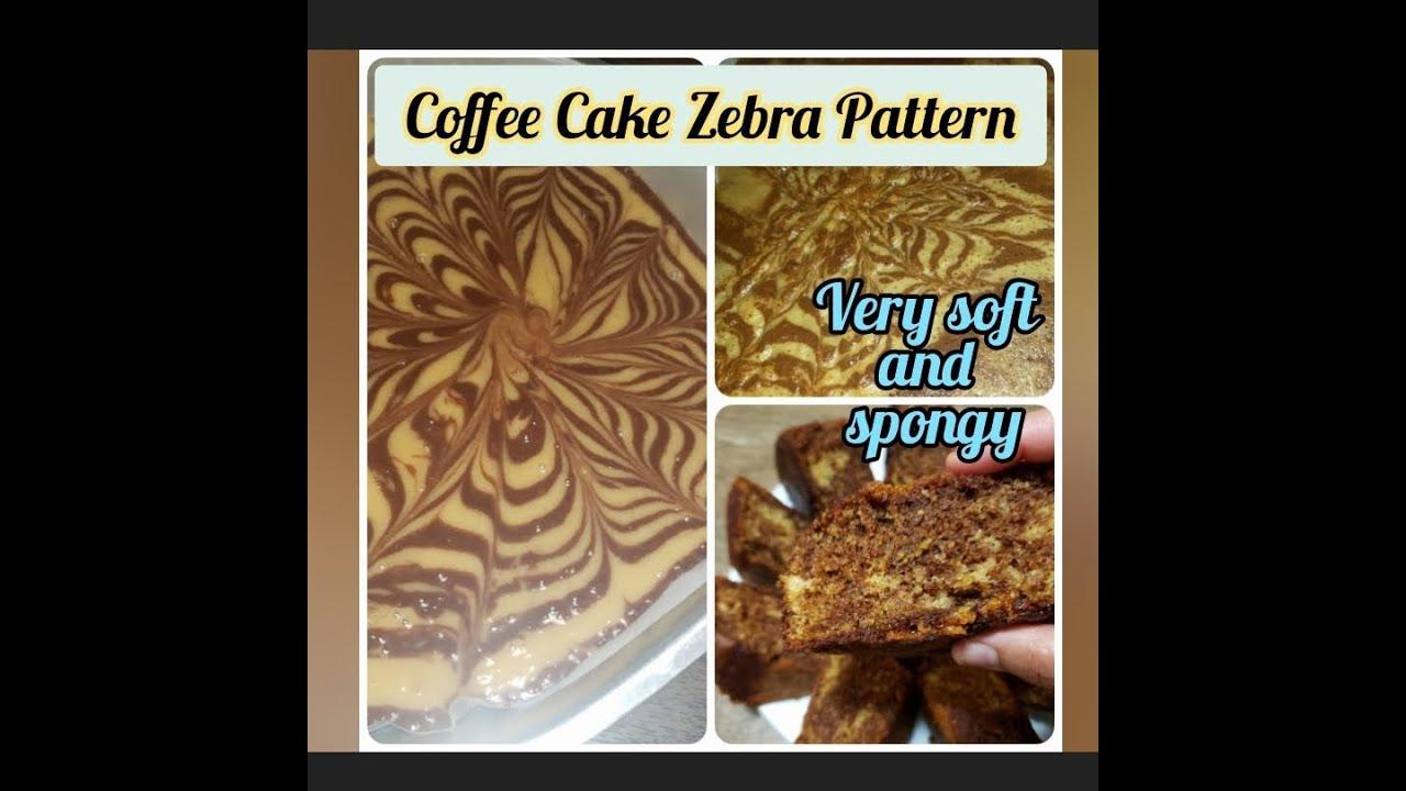Coffee Zebra Cake Recipe | Spongy soft cake | Moist ...