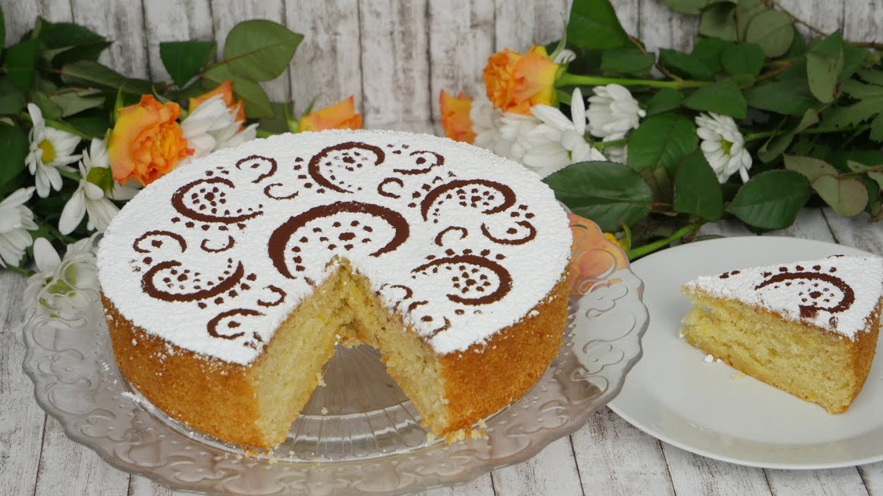 Italienischer Mandelkuchen Mit Joghurt Und Zitrone I Torta Di
