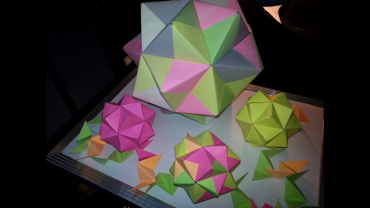 How to make a icosahedron origami youtube how to make a icosahedron origami jeuxipadfo Gallery