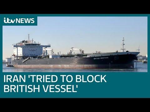 Iran 'attempted to impede' passage of British vessel through Strait of Hormuz | ITV News