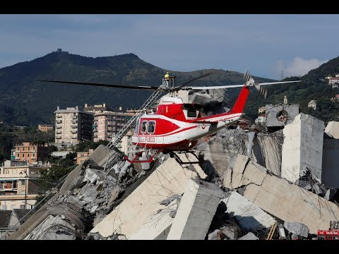No Rest For Genoa Bridge Disaster Rescuers Searching For Survivors And Victims