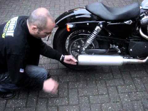 sportster 48 torque hammer full exhaust system movie youtube. Black Bedroom Furniture Sets. Home Design Ideas