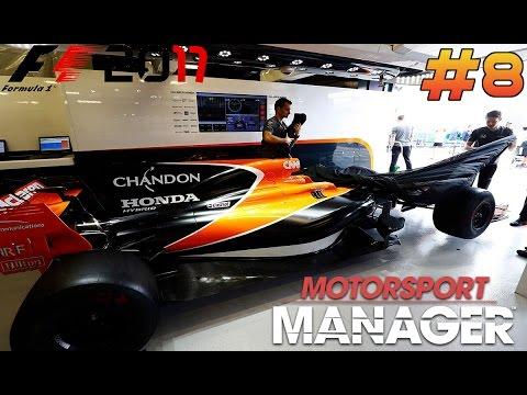 MOTORSPORT MANAGER F1 2017 MCLAREN HONDA CAREER MODE - PART 8 - STUCK IN THE PITS