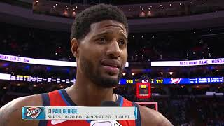 Paul George Postgame Interview - Thunder vs Sixers | January 19, 2019 | 2018-19 NBA Season