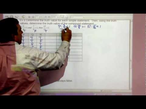 Math 120 3-3 Truth Tables for the Conditional and Biconditional