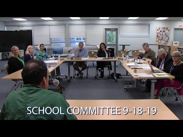 school committee 2019 9 18