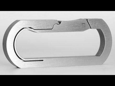Mas Design Premium Grade 5 Titanium Key Carabiner in 4k UHD