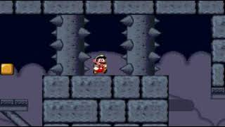 Smw Custom Level Preview: Midnight Fortress (Redone)