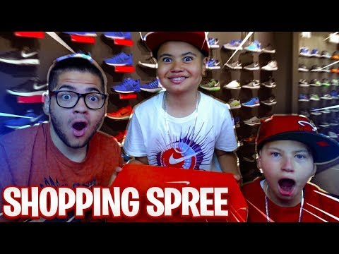 SURPRISING MY 9 YEAR OLD BROTHER ON A *INSANE* SHOPPING SPREE!! FAMILY VLOG FT. JAYDEN & MAMA REZ 🔥