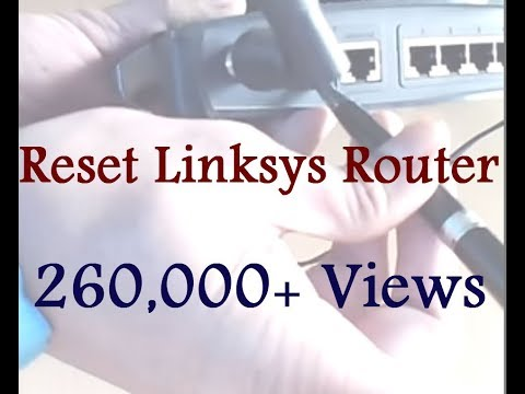 How to reset Linksys router - YouTube