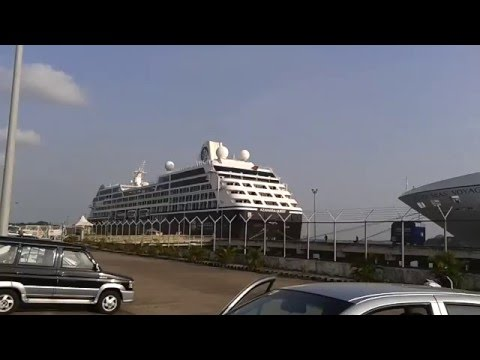 Luxury cruise vessels berthed @ COCHIN PORT