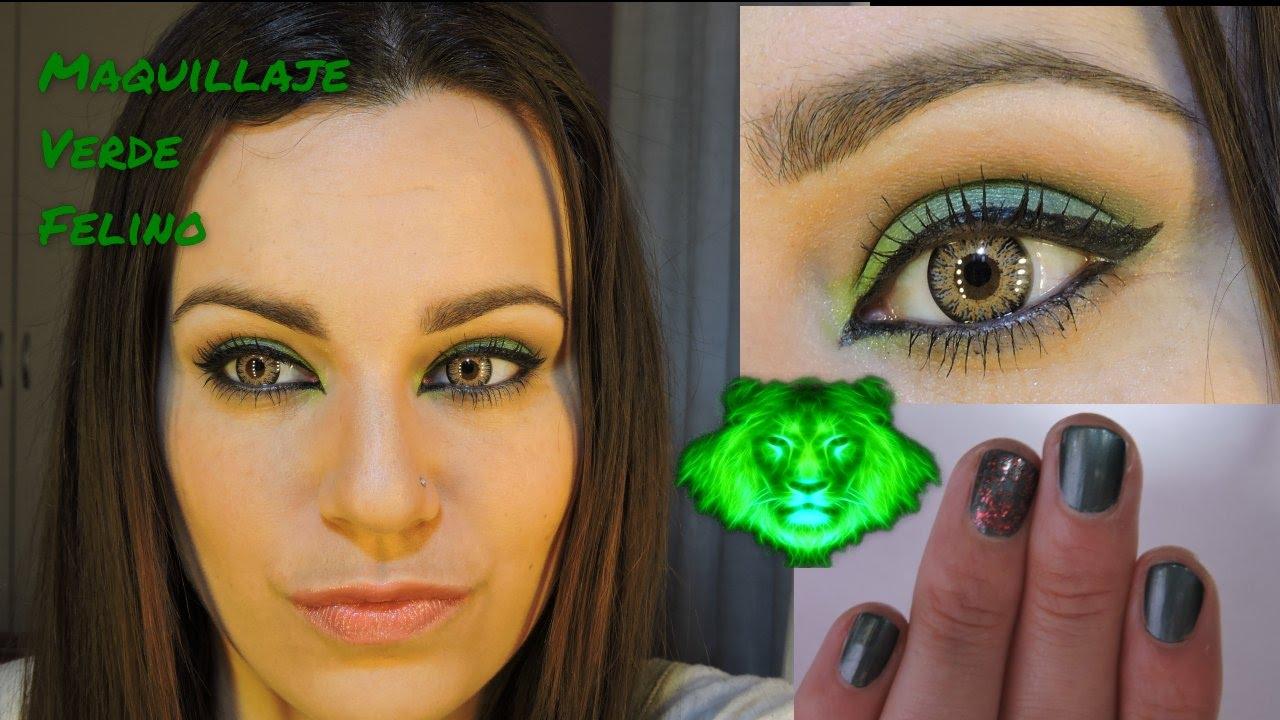 maquillaje felino verde y marrn para ojos de cualquier color fcil y rpido por marta green youtube