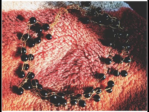 black-pearl-necklace-tutorial-\-diy-crochet-jewllery-\-glamorous-necklace-idea