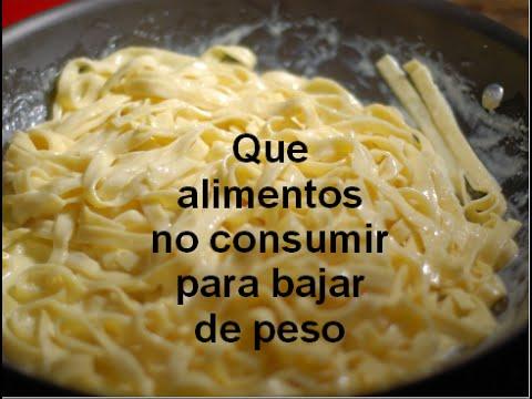 Que alimentos no consumir para bajar de peso youtube - Alimentos que no engordan para cenar ...