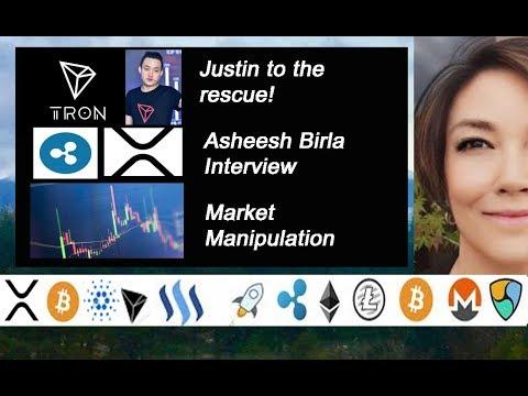 Ripple Asheesh Birla, Tron Justin Sun, Teeka Tiwari on Market Manipulation Palm Beach Letter