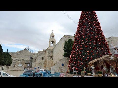 The Christmas Tree in Bethlehem 2015 (Manger Square). Merry Christmas - The Christmas Tree In Bethlehem 2015 (Manger Square). Merry
