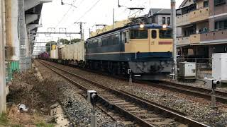 EF65 2065  貨物列車 北方貨物線 三津屋中国街道踏切にて 2018/02/19