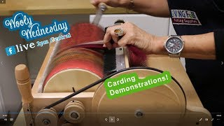 Wooly Wednesday 09 26 2018 - Carding Demonstrations