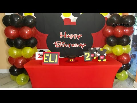 Mickey Mouse Birthday Party Decoration DIY Ideas