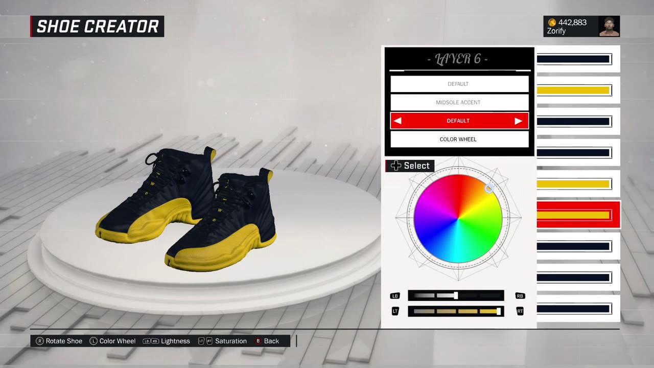 061c3ed29fad NBA 2K17 Shoe Creator - Air Jordan 12 PE