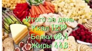 Меню на день . 1200 ккал. 6 разовое питание. Как похудеть без голоданий.
