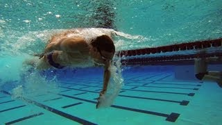 Fast Swimming Techniques - Freestyle Flip Turn - The Approach