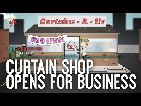 How a Curtain Shop Owner Opens and Closes His Business (The Jon Friedman Internet Program #5)