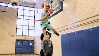 """Jordan Kilganon, 6'1"""" professional dunker from Sudbury, Ontario Video"""
