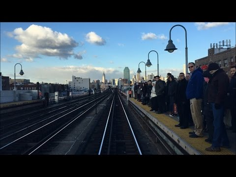 New York City Subway HD: Bombardier R62A 7 Local Train Roundtrip Manhattan RFW Peak Hour Congestion