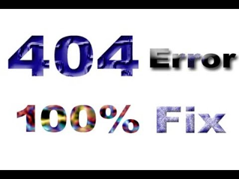 Error 404 Not Found - The Requested URL Was Not Found On This Server (solved Step By Step)