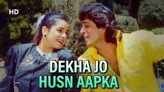 Dekha Jo Husn Aapka | Kasak (1992) | Chunky Pandey | Neelam Kothari | Popular Mohammed Aziz Song