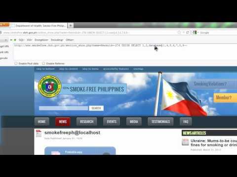 Ricz Tutorial: How Smokefree PH Gov site attack via SQL Injection