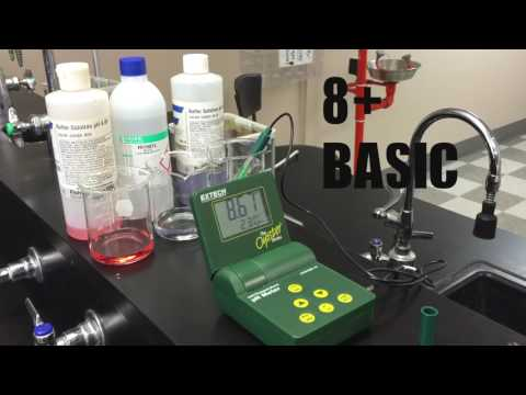 Lab testing pH of alkaline water