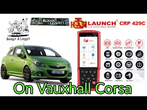 Launch CRP 429C on Vauxhall Corsa Bodgit And Leggit Garage
